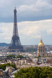 Eiffel Tower and Les Invalides, Paris Stock Photo