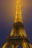 Eiffel Tower Light Beam Show. Royalty Free Stock Photo