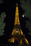 Eiffel Tower Light Performance Show Stock Image