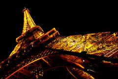Eiffel tower light show 2 Stock Photography