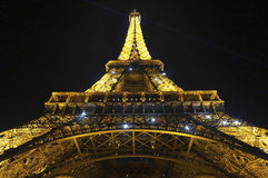 Eiffel Tower Light Show Stock Image