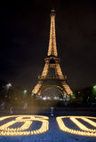 Eiffel Tower Lighting, Paris,. International Earth Hour Celebration, Paris Stock Images
