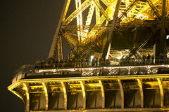 Eiffel tower lit up at night Stock Image