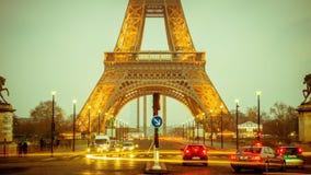 Eiffel Tower, Long Exposure, Lights Royalty Free Stock Photo