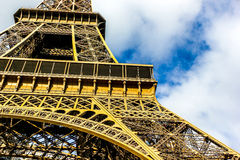 Eiffel Tower. Looking up at the Eiffel Tower, Paris France Royalty Free Stock Photo