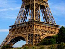 Eiffel Tower low angle view - color Royalty Free Stock Images