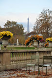 Eiffel Tower from Luxemburg garden Stock Images