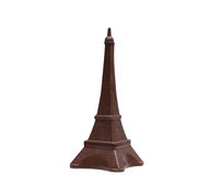 Eiffel Tower made of delicious milk chocolate Stock Photos