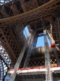 Eiffel tower during maintenance overhaul Royalty Free Stock Photography