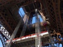 Eiffel tower during maintenance overhaul Royalty Free Stock Photo