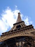 Eiffel tower during maintenance overhaul Stock Photo