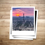 Eiffel Tower memory on photo frame Royalty Free Stock Image