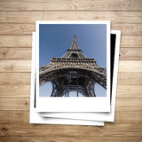 Eiffel Tower memory on photo frame Royalty Free Stock Images