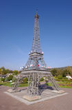 Eiffel Tower in miniature, a replica from Minimundus, Klagenfurt, Austria. Royalty Free Stock Photos