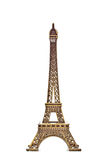 Eiffel tower model on white background 2 Stock Images
