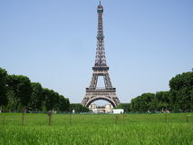 Eiffel Tower. The most recognizable architectural landmark of Paris Royalty Free Stock Photos