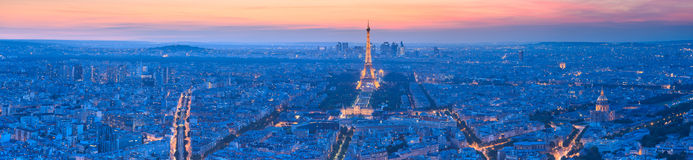 The Eiffel tower is the most visited monument of France. Royalty Free Stock Photo