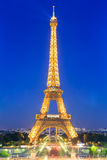 The Eiffel tower is the most visited monument of France. Royalty Free Stock Photos