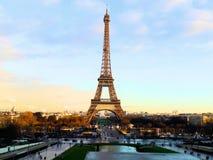 Eiffel Tower. The Eiffel Tower near sunset Stock Photos