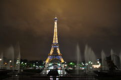 Eiffel tower in the night Stock Photo