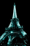 Eiffel Tower by night. In Paris Stock Images