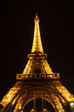Eiffel tower by night Stock Images