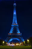 Eiffel tower at night Royalty Free Stock Image