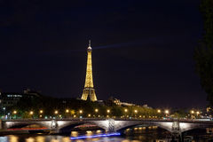 Eiffel tower at night. On Oktoberr 1, 2012 in Paris. Night in Paris with Eiffel tower, most visited monument of France with 200.000.000 visit Royalty Free Stock Photo
