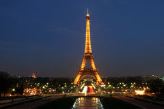 Eiffel Tower by the night Royalty Free Stock Images