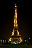 The Eiffel Tower at night. PARIS - FEBRUARY 27: The Eiffel Tower at night on February 27, 2009 in Paris. Eiffel Tower from the neighborhood.The metal structure Stock Photo