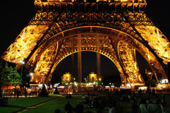 Eiffel Tower by night - Detail Stock Images