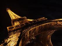 Eiffel Tower in night light. royalty free stock photos
