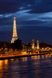 Eiffel tower at night. On October 1, 2012 in Paris. Night in Paris with Eiffel tower, most visited monument of France with 200.000.000 visit Stock Photo