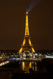 Eiffel Tower at night, Paris Royalty Free Stock Images
