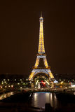 Eiffel Tower at night, Paris Royalty Free Stock Image