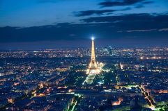 Eiffel Tower  at night ,Paris Royalty Free Stock Photos