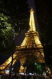 The Eiffel Tower at Night. In Paris Royalty Free Stock Photo