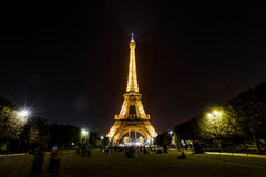 Eiffel tower at night, Paris Stock Image