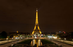 The Eiffel Tower by night Stock Images