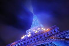 Eiffel tower at night Stock Image