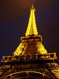 Eiffel Tower at night. In Paris, France Stock Image