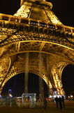 Eiffel Tower at night. Paris, France Royalty Free Stock Images