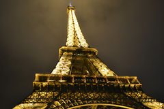 The Eiffel Tower at night Stock Image