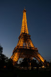 Eiffel tower at night, Paris. France, with light Stock Photo