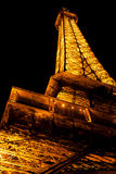 Eiffel tower by night, Paris Stock Photos