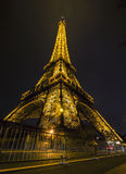 Eiffel Tower in night, Paris, France Stock Photography