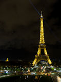 Eiffel Tower at night, Paris, France Royalty Free Stock Image