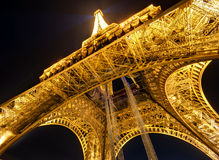 The Eiffel tower at night in Paris Royalty Free Stock Image