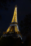 Eiffel tower night Stock Images