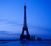 Eiffel tower night scene Stock Photo